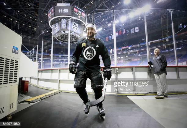 Drew Doughty of the Los Angeles Kings walks off the ice after their practice at MercedesBenz Arena September 20 2017 in Shanghai China The Vancouver...