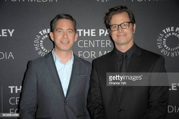 Drew Dowdle and John Erick Dowdle attend 'Waco' world premiere screening at The Paley Center for Media on January 24 2018 in New York City