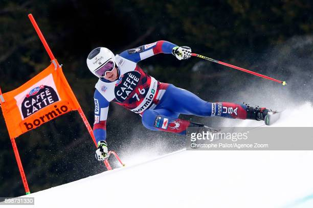 Drew Duffy of USA in action during the Audi FIS Alpine Ski World Cup Men's Downhill Training on December 26 2017 in Bormio Italy