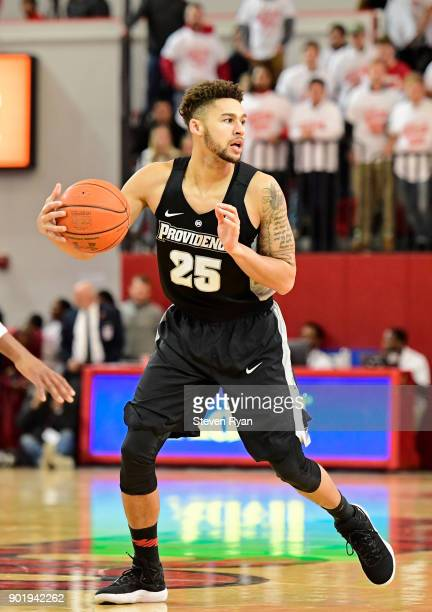 Drew Edwards of the Providence Friars in action against the St John's Red Storm during an NCAA basketball game at Carnesecca Arena on December 28...