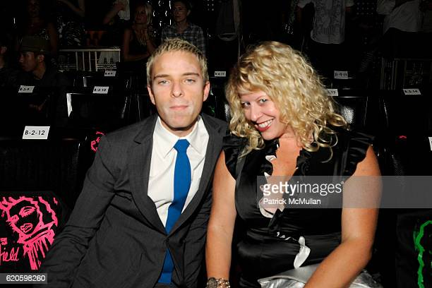 Drew Elliott and Sarah Bassette attend PATRICIA FIELD Spring 2009 Collection for HSN at The Edison Hotel Ballroom on September 6 2008 in New York City