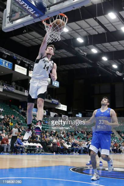 Drew Eubanks of the Austin Spurs dunks the ball during the fourth quarter against the Texas Legends on February 01 2020 at Comerica Center in Frisco...
