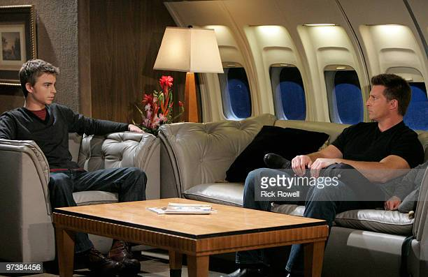 HOSPITAL Drew Garrett and Steve Burton in a scene that airs the week of March 8 2010 on Walt Disney Television via Getty Images Daytime's General...