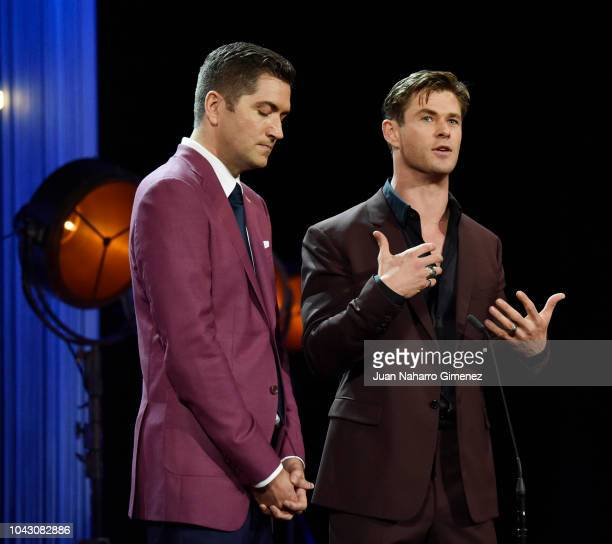 Drew Goddard and Chris Hemsworth during the closing ceremony of 66th San Sebastian Film Festival at Kursaal on September 29, 2018 in San Sebastian,...