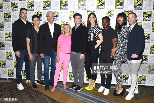 Drew Goddard Manny Jacinto Ted Danson Kristen Bell Michael Schur D'Arcy Carden William Jackson Harper Jameela Jamil and Marc Evan Jackson attend the...