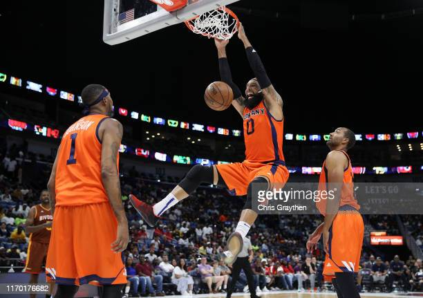 Drew Gooden of 3's Company dunks the ball during the BIG3 Playoffs at Smoothie King Center on August 25, 2019 in New Orleans, Louisiana.