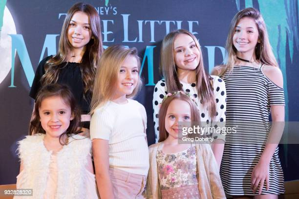 Drew Gordon Kaylee Quinn Coco Quinn Charlie Townsend Piper Rockelle and Rihanna Quinn attend the New Interactive Live Stage Show Of Disney's The...