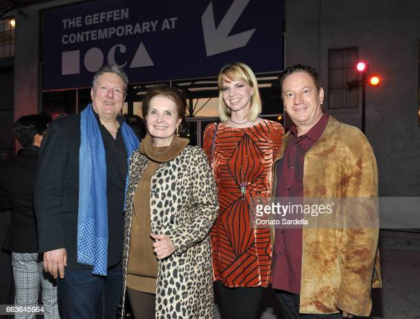 Drew Hammond Billie Milam Weisman and artists Kelly Berg and Andy Moses attend MOCA's Leadership Circle and Members' Opening of 'Carl Andre Sculpture...