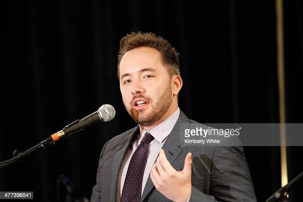 Drew Houston and CofFounder of Dropbox speaks at the PARS Equality Center 4th Annual Nowruz Gala at Marriott Waterfront Burlingame Hotel on March 8...