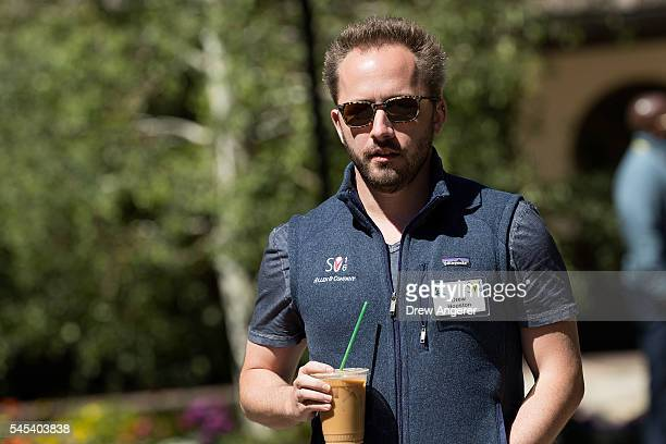 Drew Houston chief executive officer of Dropbox attends the annual Allen Company Sun Valley Conference July 7 2016 in Sun Valley Idaho Every July...