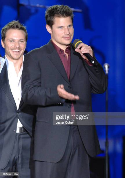 """Drew Lachey and Nick Lachey during 14th Annual Race to Erase MS Themed """"Dance to Erase MS"""" - Show at Hyatt Regency Century Plaza in Century City,..."""