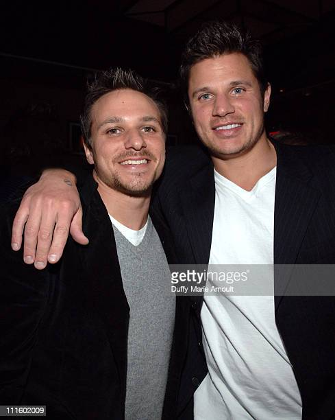 Drew Lachey and Nick Lachey during Noel Ashman Throws Party for Joey McIntyre Celebrating the Release of His New Album Talk to Me and Dancing with...