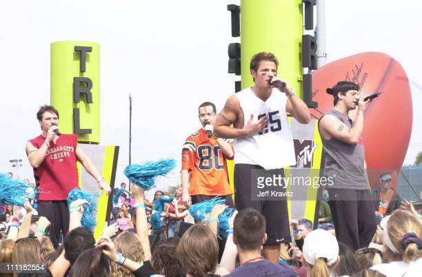 Drew Lachey Jeff Timmons Nick Lachey and Justin Jeffre of 98 Degrees