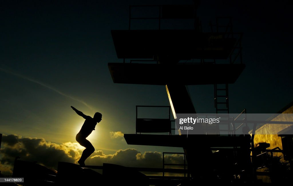 Drew Livingstone of the USA dives during a training session at the Fort Lauderdale Aquatic Center on Day 2 of the AT&T USA Diving Grand Prix on May 11, 2012 in Fort Lauderdale, Florida.