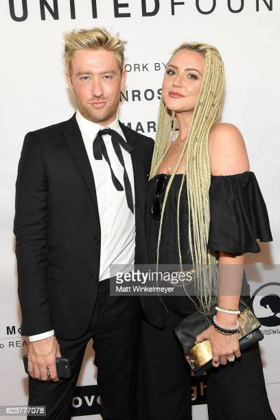 Drew Mac and Katie Welch attend Freedom United Foundation presents Art with a Cause on July 27 2017 in Los Angeles California