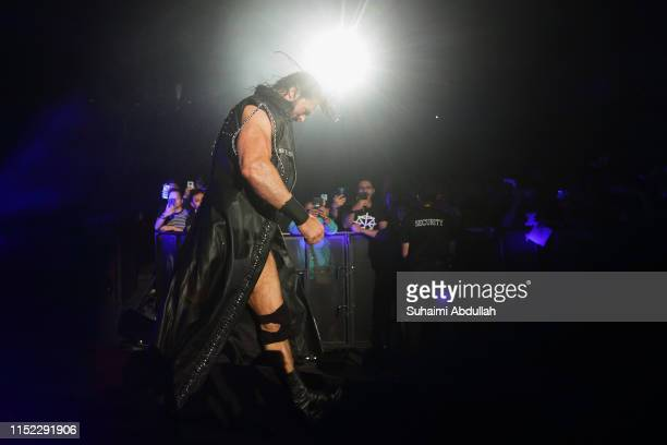 Drew McIntyre enters the ring during the WWE Live Singapore at the Singapore Indoor Stadium on June 27 2019 in Singapore