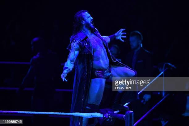 Drew McIntyre enters the ring during the WWE Live Tokyo at Ryogoku Kokugikan on June 29 2019 in Tokyo Japan