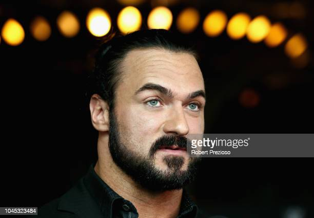 Drew McIntyre speaks during a WWE Downunder media opportunity at Crown Entertainment Complex on October 4 2018 in Melbourne Australia