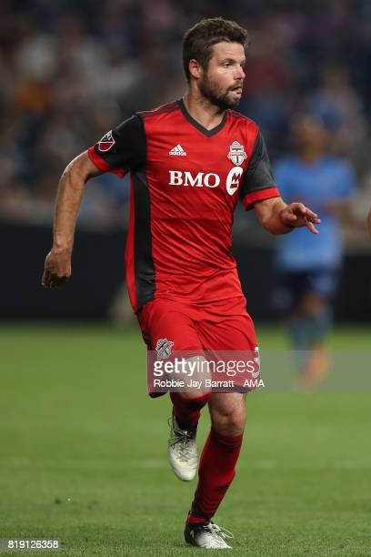 Drew Moor of Toronto FC during MLS fixture between Toronto FC and New York City FC at Yankee Stadium on July 19 2017 in New York City