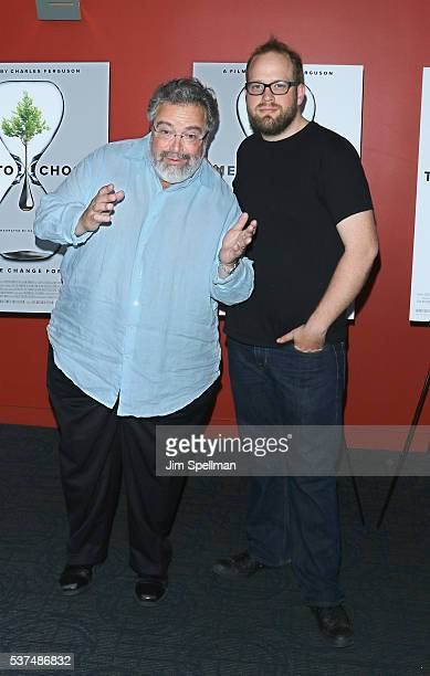 Drew Nieporent and chef Shane Lyons attend the 'Time To Choose' New York screening at Landmark's Sunshine Cinema on June 1 2016 in New York City