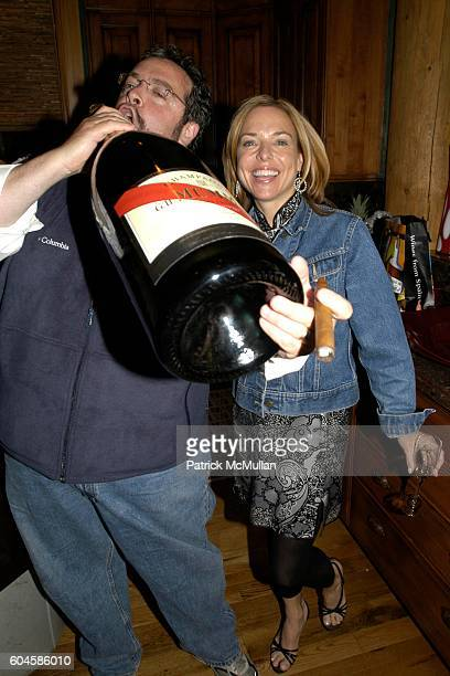 Drew Nieporent and Sissy Biggers attend Maison Cordon Rouge House / Champagne Mumm / Sushi Soiree hosted by Sissy Biggers Ming Tsai at Maison Cordon...