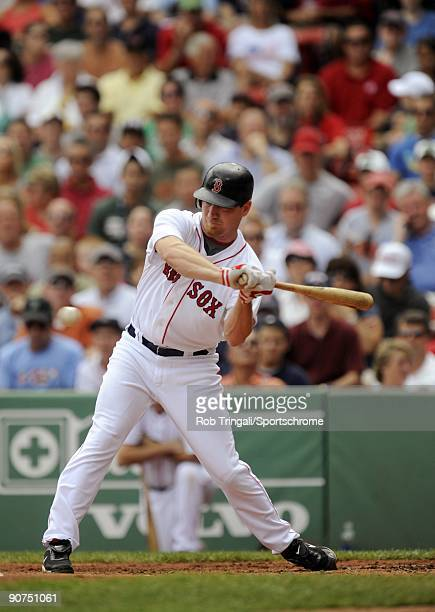D Drew of the Boston Red Sox at bat against the Oakland Athletics at Fenway Park on July 30 2009 in Boston Massachusetts The Red Sox defeated the...