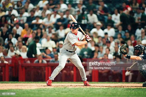 D Drew of the St Louis Cardinals bats against the Milwaukee Brewers at Miller Park on September 19 1998 in Milwaukee Wisconsin