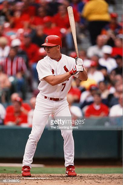 D Drew of the St Louis Cardinals bats against the Milwaukee Brewers on September 19 2001