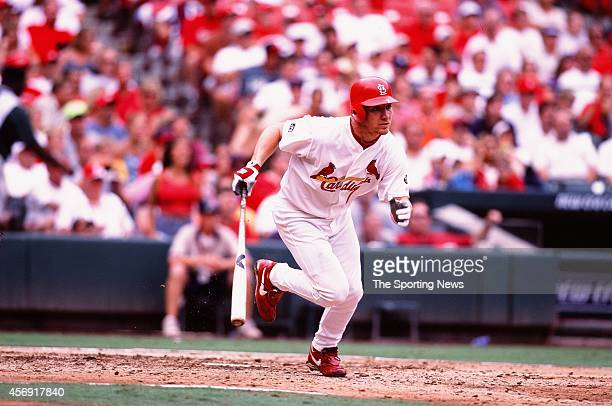D Drew of the St Louis Cardinals bats against the San Francisco Giants at ATT Park on July 18 2002 in San Francisco California