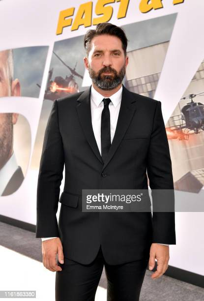 Drew Pearce arrives at the premiere of Universal Pictures' Fast Furious Presents Hobbs Shaw at Dolby Theatre on July 13 2019 in Hollywood California