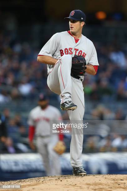 Drew Pomeranz of the Boston Red Sox in action against the New York Yankees at Yankee Stadium on June 6 2017 in the Bronx borough of New York City...
