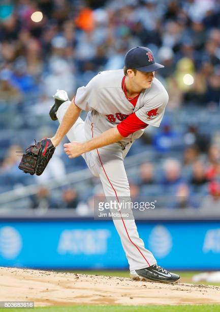 Drew Pomeranz of the Boston Red Sox in action against the New York Yankees at Yankee Stadium on June 6 2017 in the Bronx borough of New York City The...