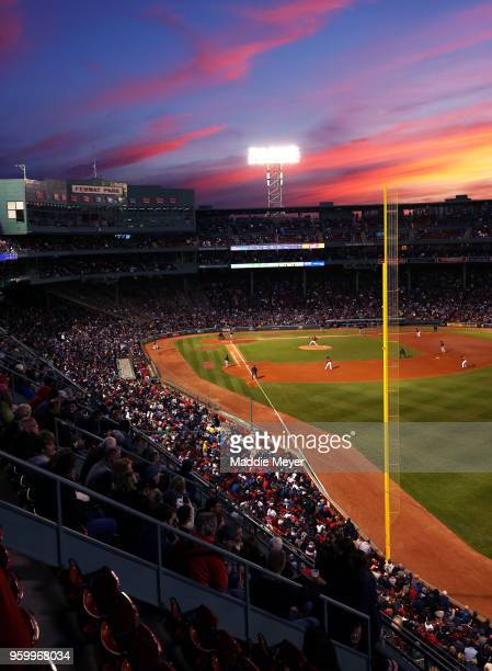 Drew Pomeranz of the Boston Red Sox pitches against the Baltimore Orioles during the fourth inning at Fenway Park on May 18, 2018 in Boston,...