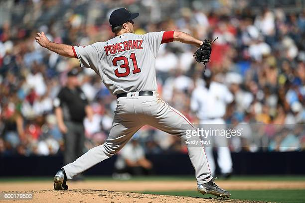 Drew Pomeranz of the Boston Red Sox pitches during the game against the San Diego Padres at PETCO Park on September 5 2016 in San Diego California