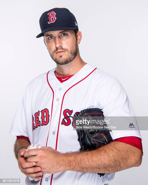 Drew Pomeranz of the Boston Red Sox poses for a portrait on team photo day on February 20 2018 at jetBlue Park at Fenway South in Fort Myers Florida