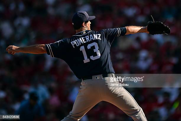 Drew Pomeranz of the San Diego Padres pitches against the Cincinnati Reds at Great American Ball Park on June 25 2016 in Cincinnati Ohio