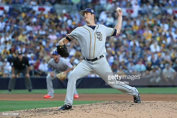 Drew Pomeranz of the San Diego Padres throws a pitch during the 87th Annual MLB AllStar Game at PETCO Park on July 12 2016 in San Diego California