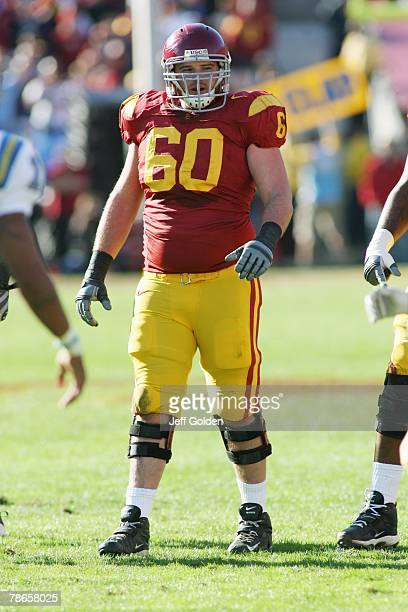 Drew Radovich of the USC Trojans looks on against the UCLA Bruins on December 1, 2007 at the Los Angeles Memorial Coliseum in Los Angeles,...
