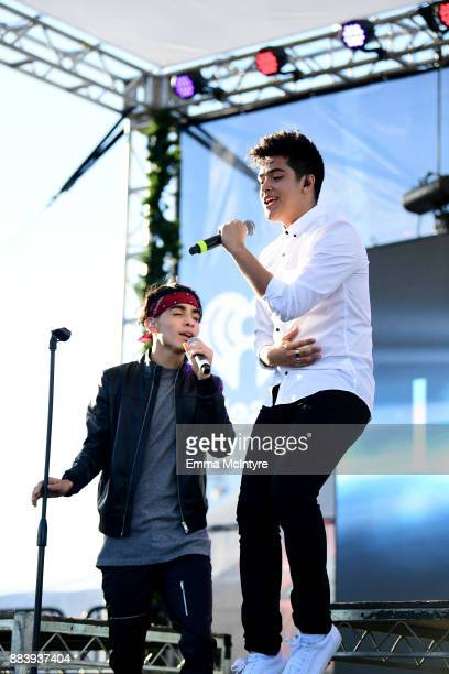 Drew Ramos and Sergio Calderon of In Real Life perform on stage at 1027 KIIS FM's Jingle Ball Village at KIIS FM's Jingle Ball 2017 Presented by...