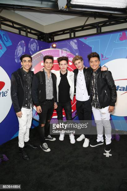 Drew Ramos Chance Perez Michael Conor Brady Tutton and Sergio Calderon of In Real Life attend the 2017 iHeartRadio Music Festival at TMobile Arena on...