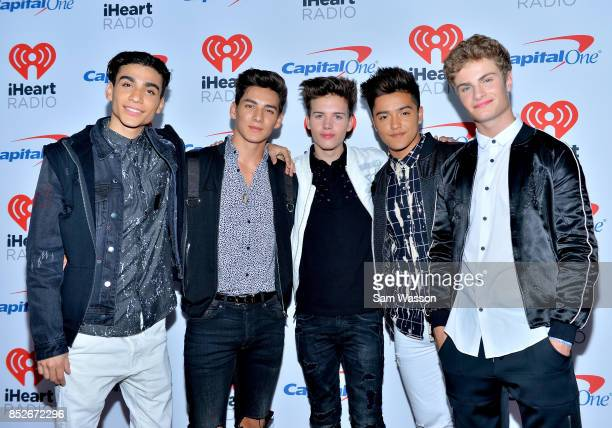 Drew Ramos Chance Perez Michael Conor Sergio Calderon and Brady Tutton of In Real Life attend the 2017 iHeartRadio Music Festival at TMobile Arena on...