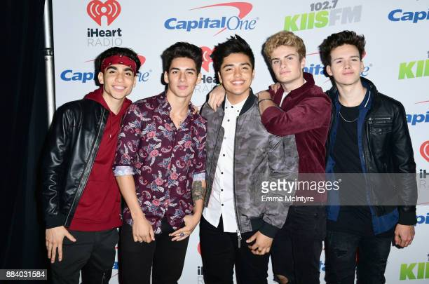 Drew Ramos Chance Perez Sergio Calderon Brady Tutton and Michael Conor of In Real Life pose in the press room during 1027 KIIS FM's Jingle Ball 2017...