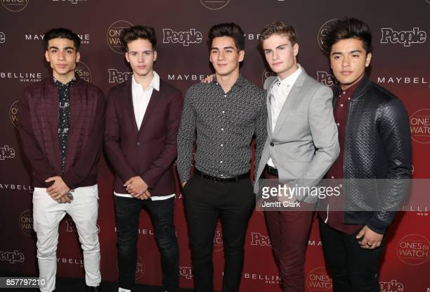Drew Ramos Michael Conor Chance Perez Brady Tutton and Sergio Calderon of In Real Life attend People's 'Ones To Watch' at NeueHouse Hollywood on...