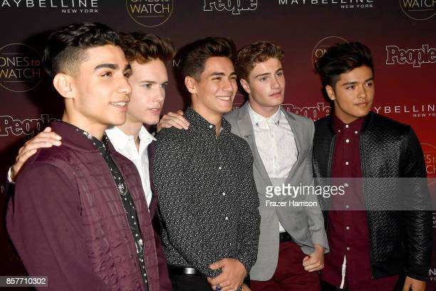 Drew Ramos Michael Conor Chance Perez Brady Tutton aned Sergio Calderon of In Real Life attend People's 'Ones To Watch' at NeueHouse Hollywood on...