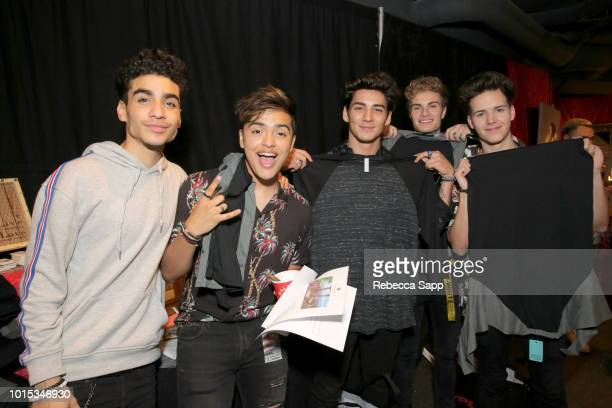 Drew Ramos Sergio Calderon Chance Perez Brady Tutton and Michael Conor of the band In Real Life at Backstage Creations Celebrity Retreat At Teen...