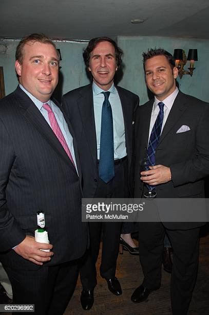 Drew Saunders Jeffrey Geller and Cliff Comfort attend Preview of Atlantic City's First Boutique NonGaming Hotel THE CHELSEA at Beatrice Inn on April...