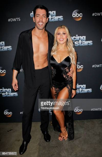 Drew Scott and Emma Slater attend 'Dancing With The Stars' season 25 taping at CBS Televison City on September 26 2017 in Los Angeles California