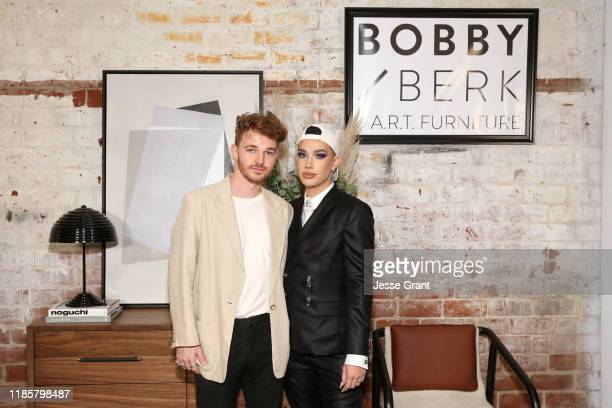 Drew Scott and James Charles attend the Bobby Berk's ART Furniture Launch Event on November 05 2019 in Los Angeles California