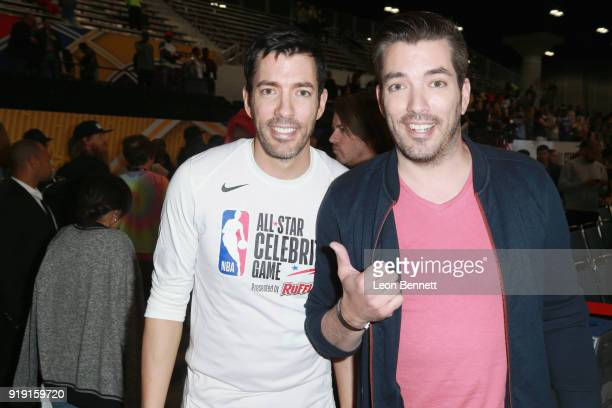 Drew Scott and Jonathan Scott at The NBA AllStar Celebrity Game 2018 Presented By Ruffles at Verizon Up Arena at LACC on February 16 2018 in Los...