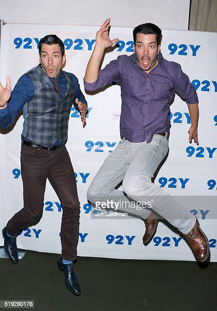 S Drew Scott and Jonathan Scott attend a talk at 92nd Street Y on April 5 2016 in New York City